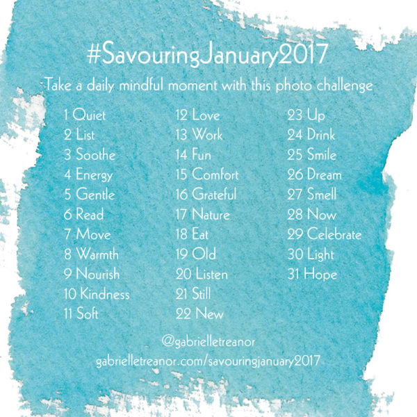 #SavouringJanuary2017