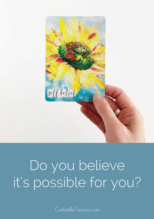 Do you believe it's possibel for you?